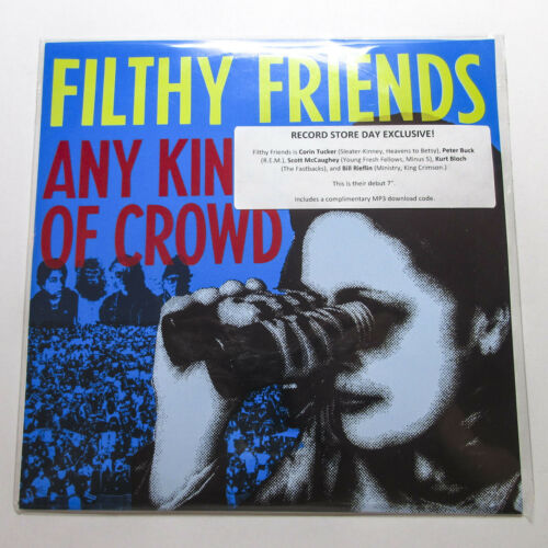 "*2017 RSD* Peter Buck Filthy Friends Any Kind Of Crowd 7"" Vinyl Single R.E.M."