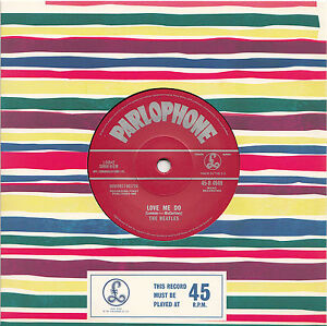 THE BEATLES Love Me Do 2012 UK 2nd press vinyl 7