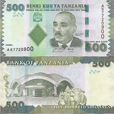 Tanzania P40, 500 Shilingi, Aesculap's rod, Unversity with graduating students