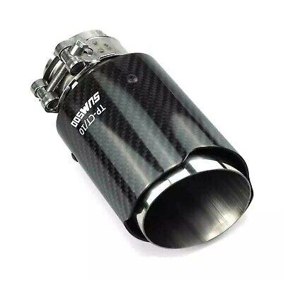 Glossy 3K Carbon fibre exhaust tips x2 pcs