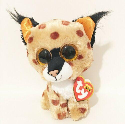 "TY Beanie Boos Collection Buckwheat The Lynx Stuffed Animal Plush 6"" New"