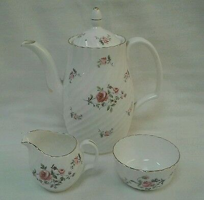 Adderley FRAGRANCE Bone China England Tea Set Tea Pot Sugar Creamer Flower