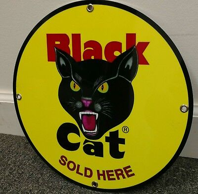 Black Cat Fireworks Sold Here Sign