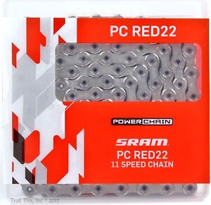 SRAM PC-RED22 11-Speed Hollow-Pin Road Bike Chain 114L fits eTap RED / Force 22