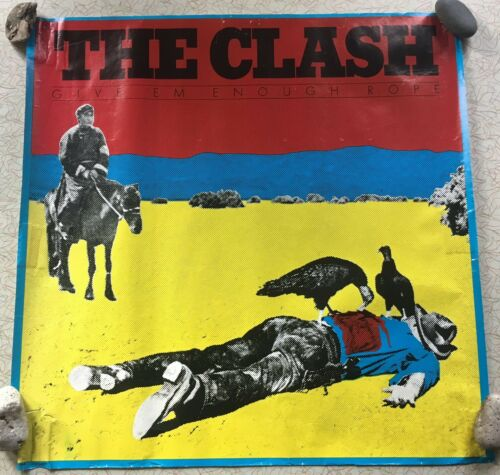 The Clash Give Em Enough Rope Vintage Store Display Promo Poster - Punk Rock