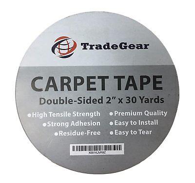 Tradegear Double Sided Carpet Tape - High Tensile Strength Rug Tape 2 X 30 Yard