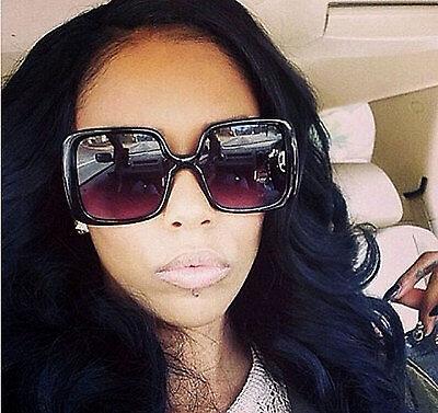 Women Oversized Sunglasses Retro Vintage Fashion Black Jackie O Style