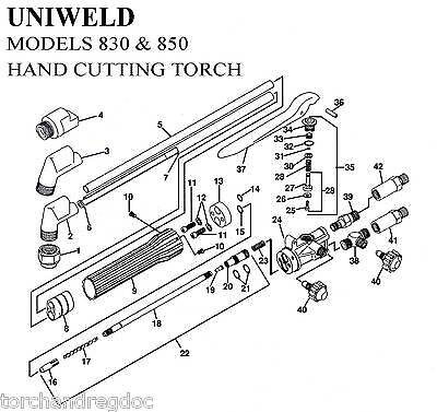 Repair Kit - Uniweld 830 850 Cutting Torch Complete Rebuild