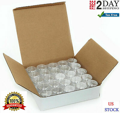 Small Plastic Containers Storage Acrylic Cosmetic With Lids For Makeup 50 pc - Clear Plastic Containers With Lids