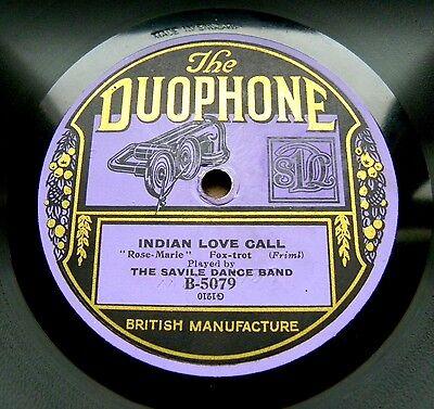 0992/ SAVILE DANCE BAND-Indian love call-Rose-Marie-FOXTROTT-DUOPHONE-Schellack