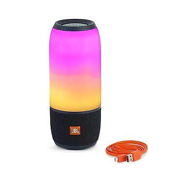 JBL Pulse 3 Waterproof Portable Bluetooth Wireless Speaker w/ Light Show - Black
