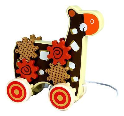 - Giraffe w Gears Wooden Pull Toy by Applesauce
