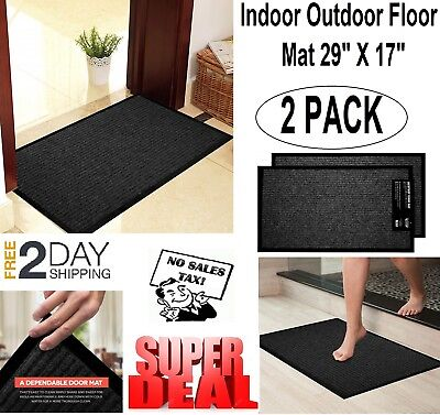 Outdoor Indoor Floor Mat Entrance Home Doormat Welcome Non Slip Rug Front Door
