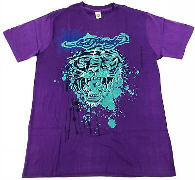 Ed Hardy NEW T Shirt Tiger Vintage Tattoo Royal Purple Men's Medium Ed Hardy New Tiger