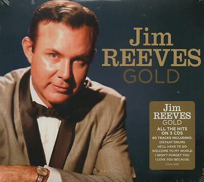 JIM REEVES - GOLD - 3 CDS - NEW!!