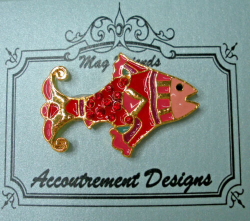 Needle Minder Magnet Red Fish Accoutrement Designs Cross Stitch