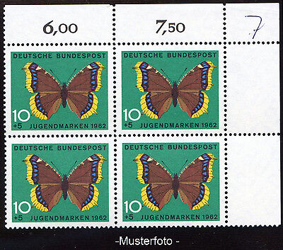 Bund / BRD Mi.Nr. 377 Abart / Plattenfehler 377 f 5, Viererblock (M: re. oben)