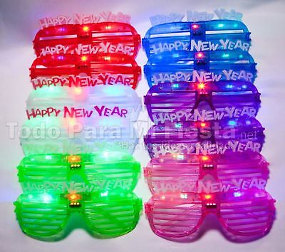 2019 Lightup New Years Eve Glasses Happy New Year Light Up Glasses Supplies (Happy New Year Glasses)
