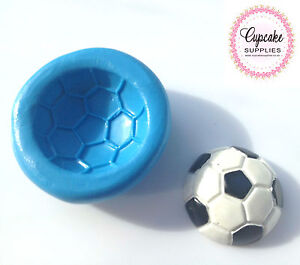 details about american soccer ball silicone cupcake topper sugarcraft