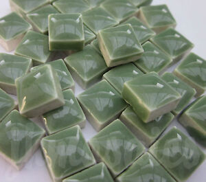 100pcs-110grams-Micro-Ceramic-Mosaic-Tiles-Grass-Green-GD3
