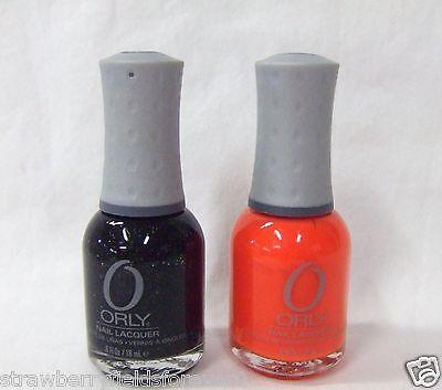 ORLY Nail Polish Color Halloween Orange Punch  + Goth Black 40463/40637 ~2ct~ - Orange Halloween Punch