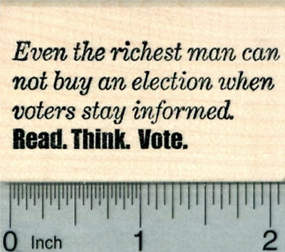 Voting Rubber Stamp  Stay Informed  Read  Think  Vote G30624 Wm