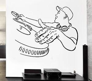 Music Dj Wall Stickers Night Club Pop Music Cool Decor Vinyl Decal Ig426 Ebay