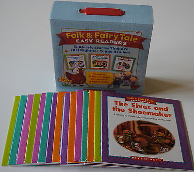 15 Lot Fairy Tales Early Readers Books BOX SET Homeschool Grade 1 2 Levels E-I