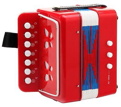 Children Button Beginner Accordion 2 Bass 7 Keys Kids Music Education Toy Red