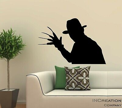 Halloween Home Decor Freddy Krueger Wall Decal, Nightmare - Freddy Krueger Halloween Dekoration