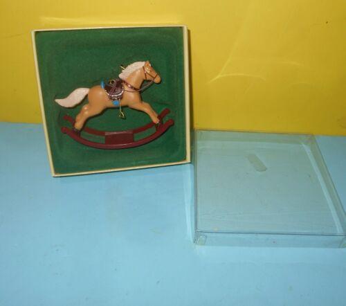 1983 Russ Rocking Horse Series Christmas Ornament in Box#4670 HONG KONG