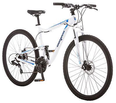 "29"" Mongoose Status 2.6 Men's  Mountain Bike, 18-Inch frame, White"