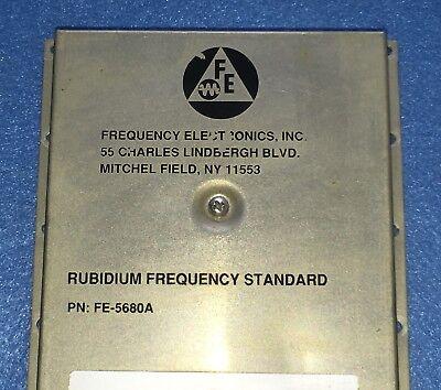 Used Fe5680a Rubidium Oscillator Output 10mhz 1pps 15v
