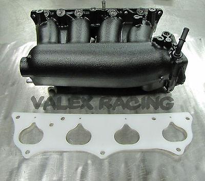 Honda Rbc Pre Modified Intake Manifold Black Powder Coated W  Thermal Gasket