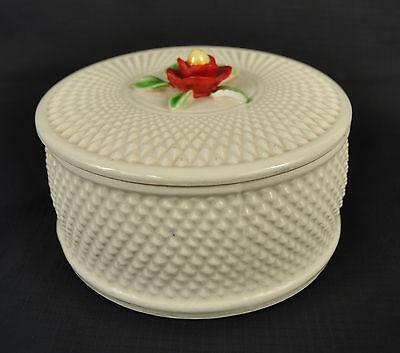 Vintage Japanese White Candy Dish Ceramic Pottery