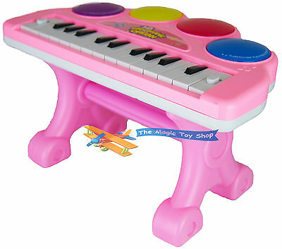 Childrens Pink Electronic 3D Mini Piano Organ Keyboard Musical Toy Light & Sound