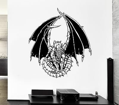 Wall Decal Dragon Fire Serpent Tale Monster Reptile Mural Vi