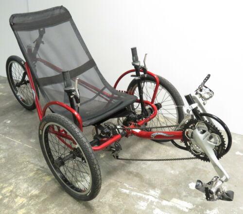 Sidewinder Cycle SportZ Recumbent Trike Tricycle Bike Bicycle 21-Speed Red (Used - 999.91 USD)
