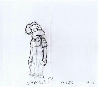 Moe Szyslak (Simpsons Moe Szyslak Original Art Animation Production Pencils GABF20 A SC185)