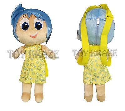 Inside Out Plush Backpack  Joy Yellow Medium Soft Doll Figure Girls 16  Nwt