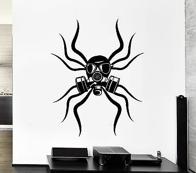 Wall Decal Spider Tribal Gas Mask Toxic Coolest Mural Vinyl Stickers (ed002) - Coolest Masks
