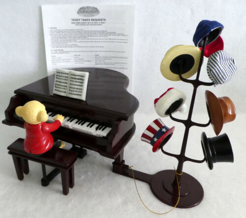Teddy Takes Requests Piano Music Box Plays 60 Songs Mr Christmas AS IS