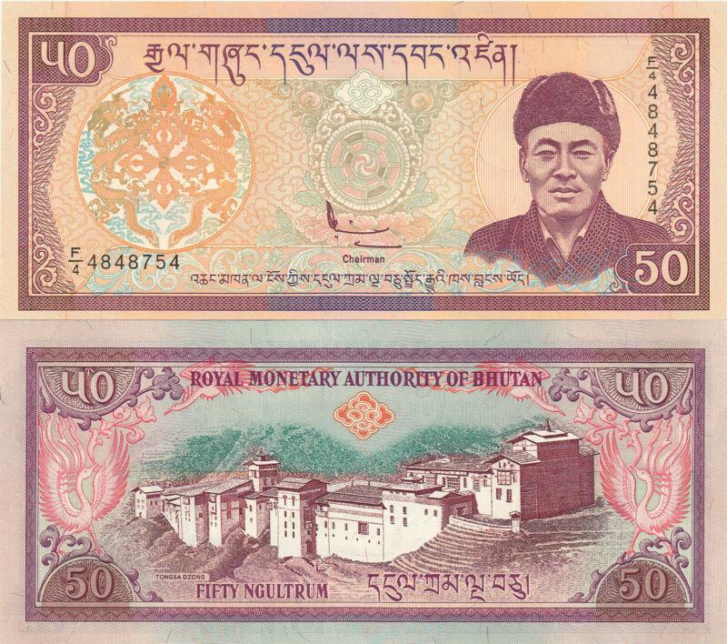 Bhutan 50 Ngultrum (2000) -  Tongsa Dzong Palace/p24 UNC