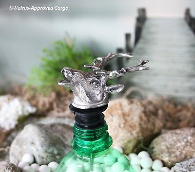 - WILLIAMS-SONOMA PEWTER DEER POURER & AERATOR -NIB- HOOF IT WITH STYLE & UTILITY!