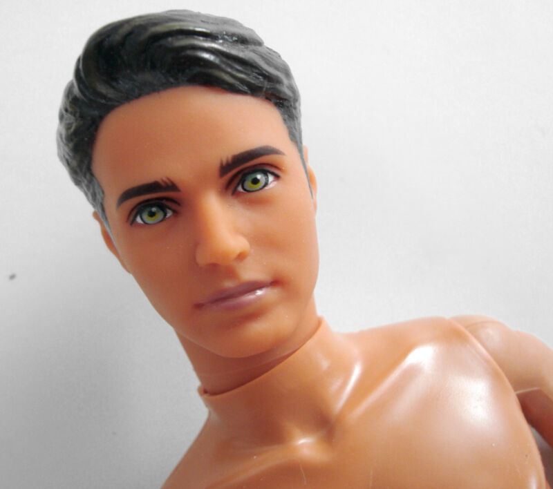 KEN DOLL NUDE Dark Highlighted Molded Hair/Blue Eyes GORGEOUS! NEW!
