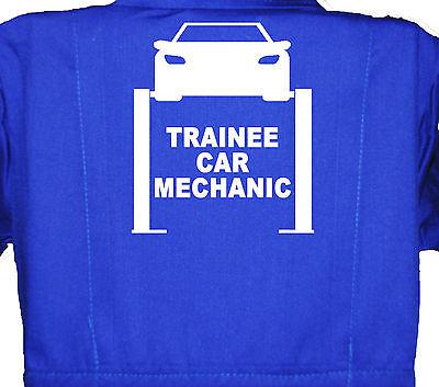 Trainee Car Mechanic, Childrens,Kids,Coverall,Boilersuit,Overall 1-8yrs - Children's Mechanic Coveralls