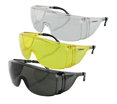 Titus Safety Glasses Shooting Eyewear Motorcycle Protection Ansi Z87 Fit Over Rx