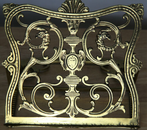 antique vintage brass plated Bible stand ***BEAUTIFUL***