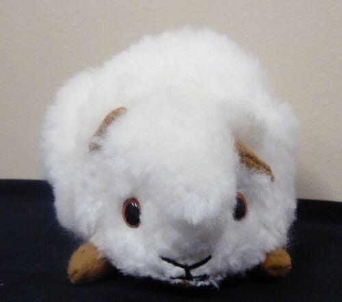 New Peruvian Handmade Guinea Pig Stuffed Animal made with White Alpaca Fur