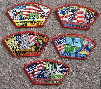 2001 Jamboree Set of 5 Greater Pittsburgh Council JSP - BSA    . Jam   Jambo